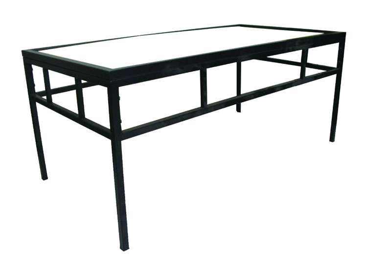 Metal Coffee Table Black Iron